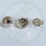Conische studs met patroon zilver